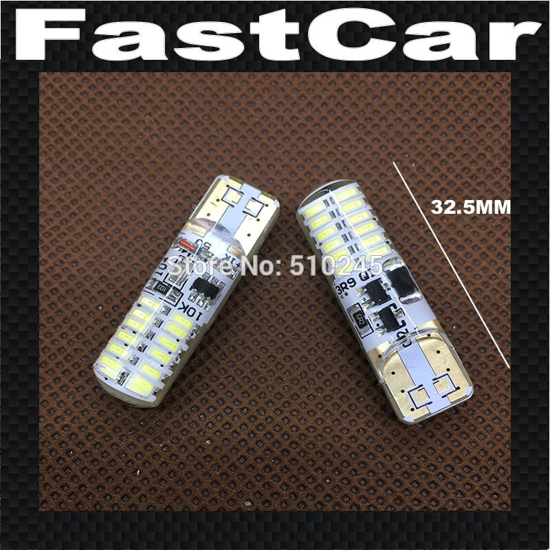 100X High quality silicone Strobe Flashing Car LED Light T10 24 leds 3014 smd W5W 147 168 Wedge Bulb Lamp DC12V Free shipping