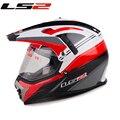 Бесплатная доставка LS2 шлем побежал шлем двойного назначения с объективом внедорожных шлем мотогонок дорожные транспортные средства MX-455
