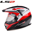 Free shipping LS2 helmet ran helmet dual-use with the lens off-road helmet motorcycle racing off-road vehicles MX-455