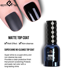 EMENE Shine Matte Effect Top Coat Base Nail Polish UV Gel  15ML Long Lasting Soak Off Varnish Manicure Valid