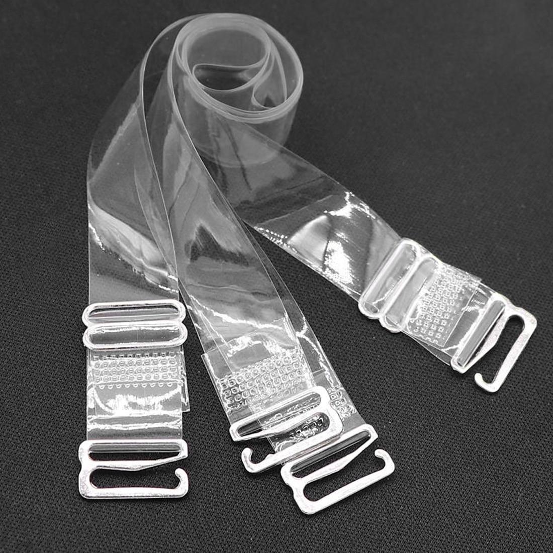 Elastic Buckle Bra Belt Womens Transparent Silicone Straps Adjustable Intimates Accessories