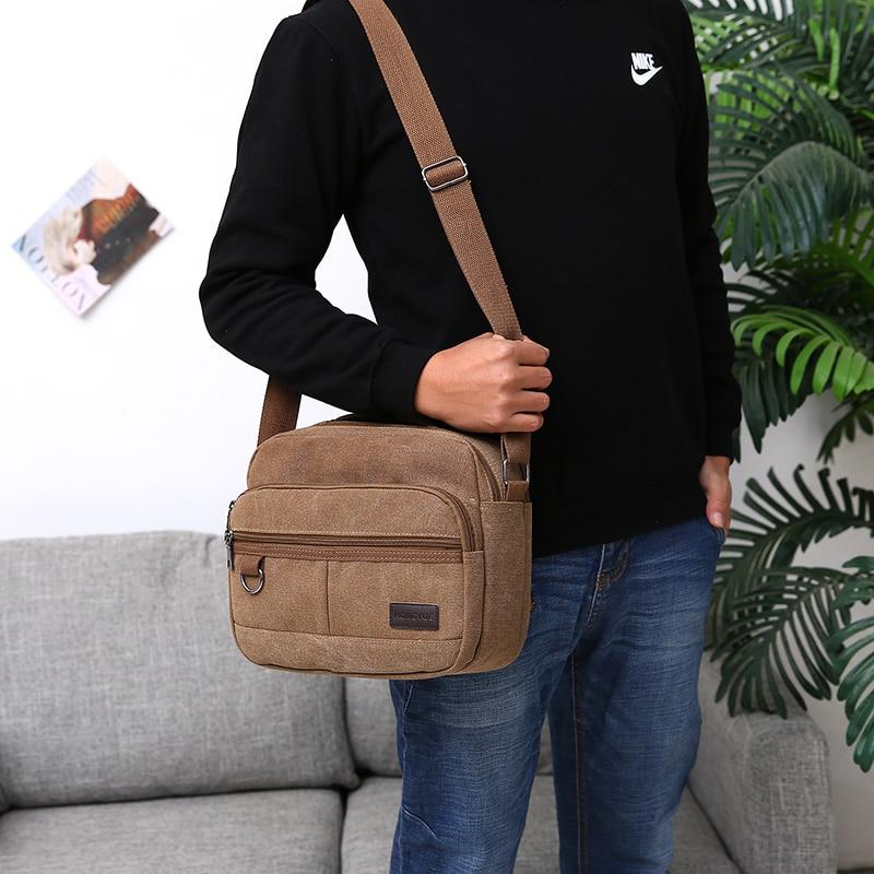 Satchels For Men College Style 100% Cotton Canvas Messenger Bag ... eb3cbfcbc85a7