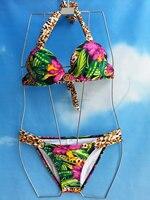 Wild Print Bandage Sexi Ladies Mature Bikini Swimsuits