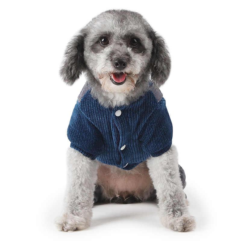 Премиум собаку зимняя одежда оленей собака костюм на Рождество Хэллоуин кошка щенок маленькой собаки теплый свитер вельветовый комбинезон