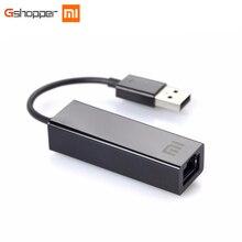 Оригинальный Xiaomi USB 2.0 адаптер Ethernet 10 Мбит/с/100 Мбит/с мегабит RJ45 сетевой адаптер для ТВ коробка 3 ноутбука