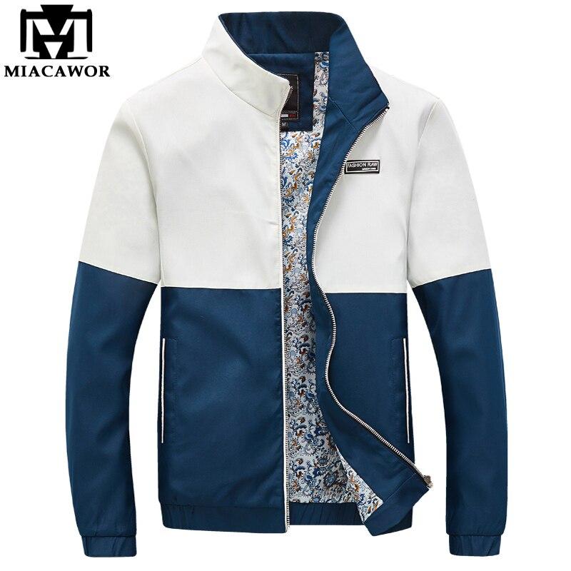 Plus Size 5XL Patchwork Casual Men Jacket Autumn Men Bomber Jacket Slim Fit Coats Jaqueta Masculina Brand Clothing MJ301