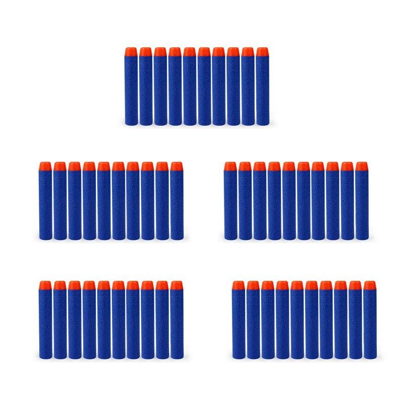50 pcs lot EVA Air Soft Bullet Blaster Elite Rampage Retaliator Series Refill Clip Darts Bullets