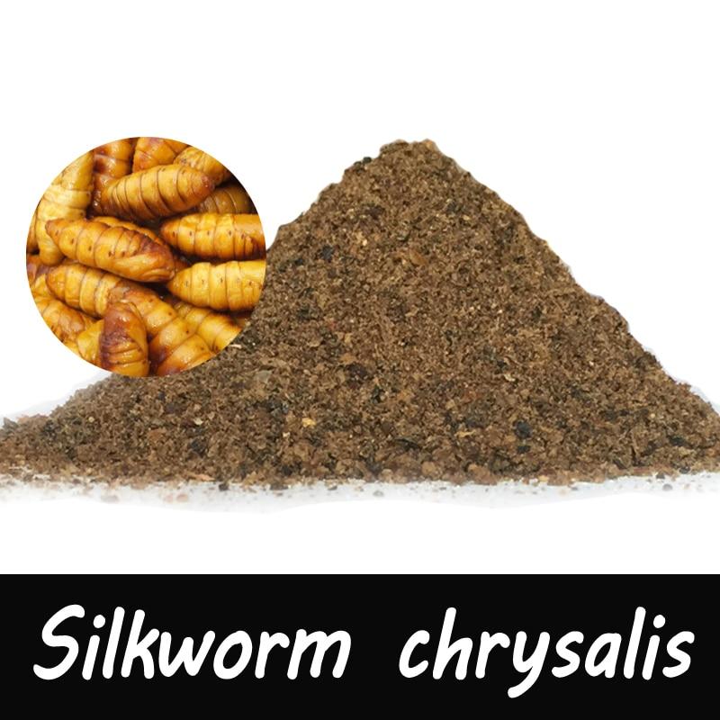 1 Bag 30g Silkworm chrysalis Flavor Additive Carp Fishing Feeder Bait Boillie Making Material galbraith r the silkworm
