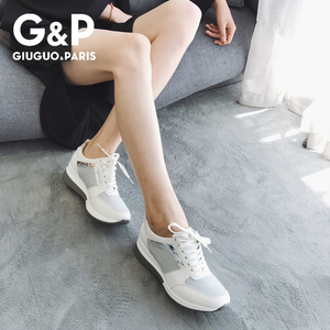 Image 4 - 春の新スニーカー女性プラットフォームカジュアルスポーツ靴の女性の厚い底ファッション靴レースブリンブリン工場直接販売
