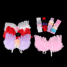 Colorful Newborn Baby Kids Feather Lace Headband & Angel Wings Flowers Photo Props Newborn Photography Props