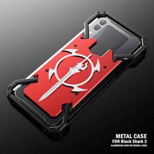 Image 3 - ADKO a prueba de choques de la armadura de dorso de metal para Xiaomi tiburón negro 1 2 Helo de aluminio espada Thor para Xiaomi Blackshark 2 Pro