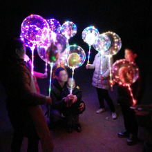 LED Balloon Reusable Luminous Transparent Round Bubble Decoration Party Wedding Christmas Gift