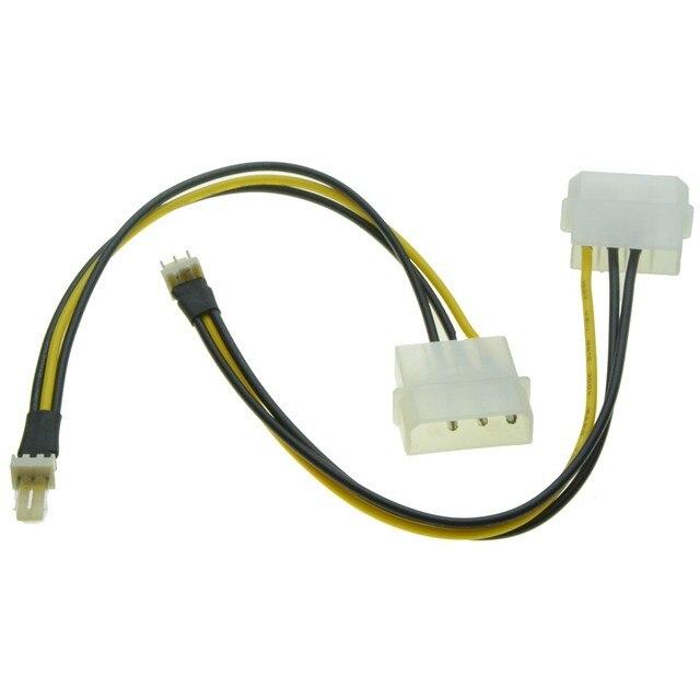4pin Molex Port Stecker auf 3Pin Lüfter Männlichen port Kabel D ...
