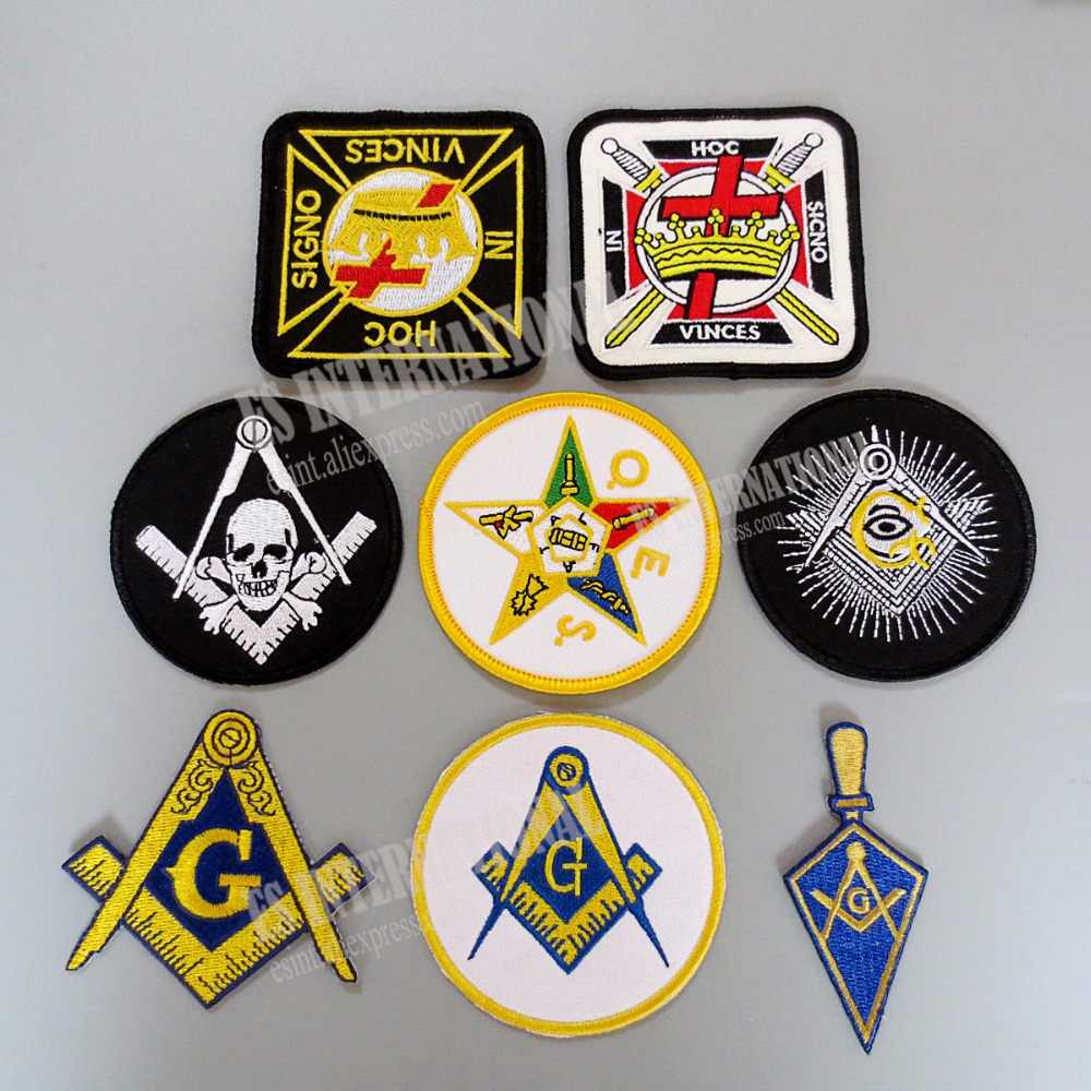 Remendos maçônicos do bordado mason freemason 7.6cm