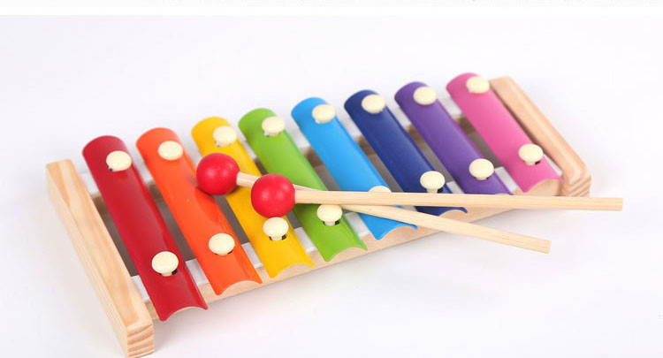 New Style Musical Toys Knock On Piano Cool 8 Tones Colorful Fashion Hand Knock Piano Baby Kids Toys Pl3 Learning & Education