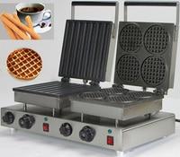 더블 헤드 220 v 전기 churros 와플 메이커 machine_round 벨기에 와플 메이커|waffle maker|belgian waffle makerwaffle maker machine -