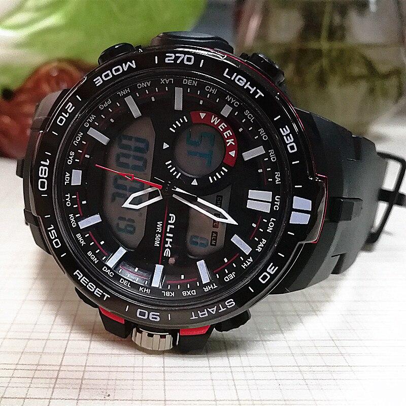 2018 Luxus Männer Analog Digital Military Armee Sport Led Wasserdichte Armbanduhr Montre Reloj Relogio Uhr Elektronische Uhr Modischer Stil; In