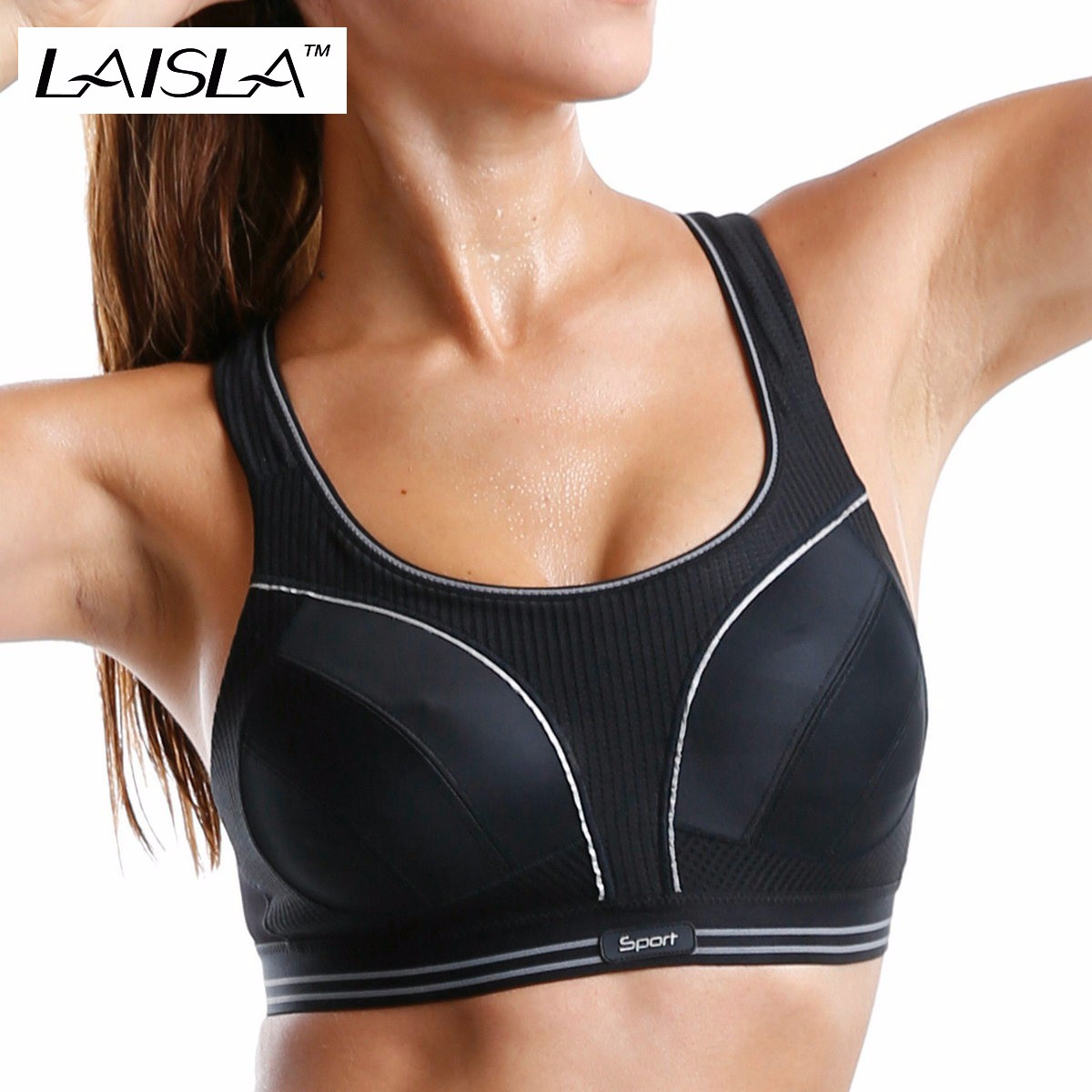 d52e1c7e3933a Women s Racer Back Plus Size Non padded Level 4 Maximum Comfort Active Bra 32  40 A B C D DD E F-in Bras from Women s Clothing   Accessories