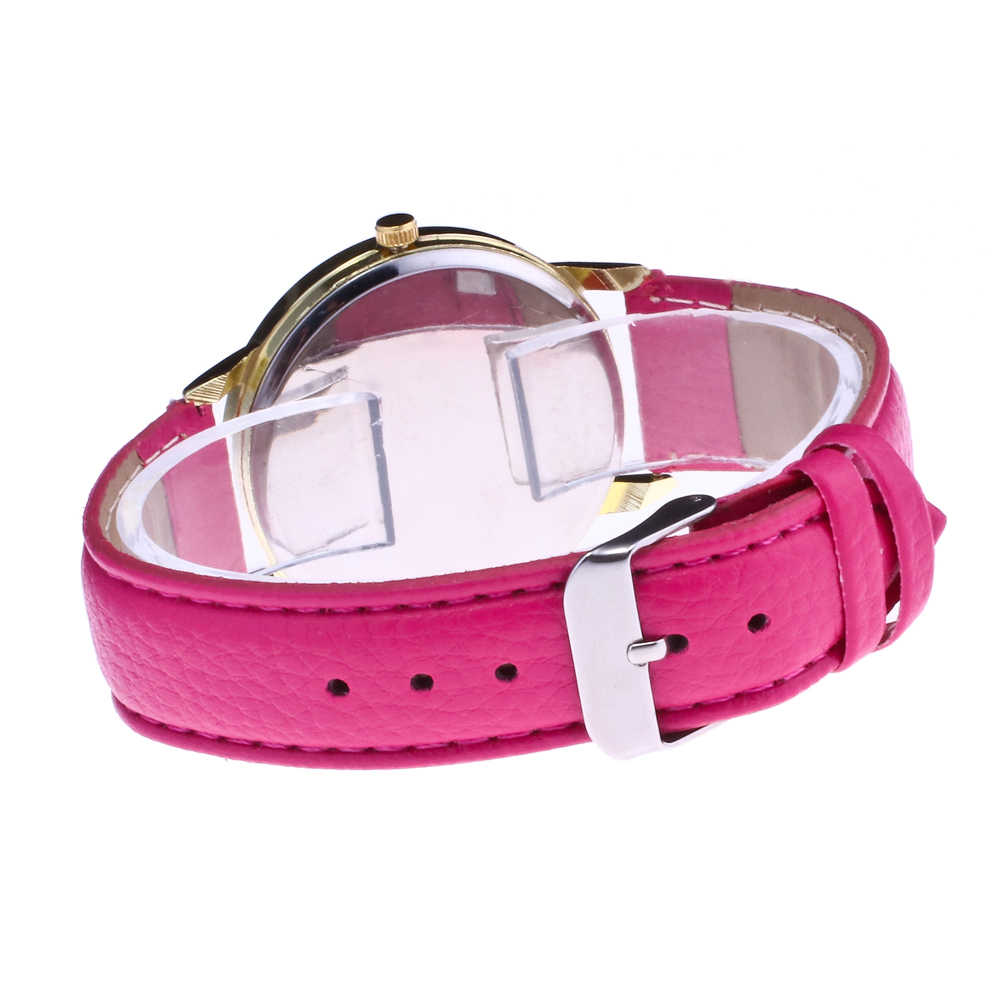 fashion watch female multicolor optional Wrist Watch Women simple girl creative leather clock Digital watch Stainless steel dial
