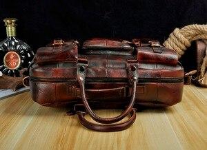 Image 5 - מקורי עור גברים אופנה תיק עסקי תיק Commercia מסמך מחשב נייד מקרה עיצוב זכר נספח תיק תיק 3061 bu
