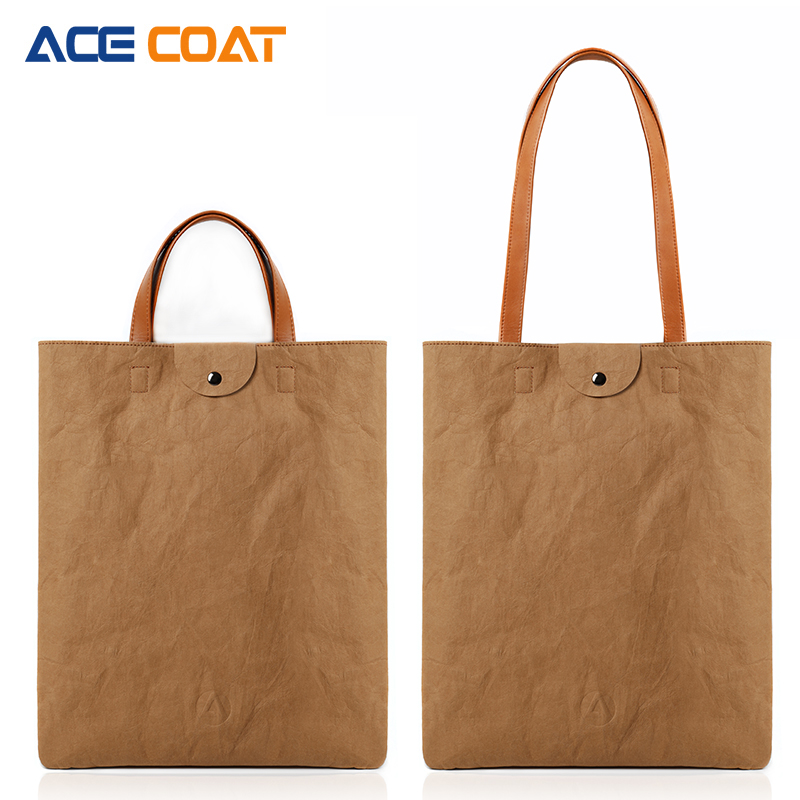 ec1fa22ad1d8 US $17.91 10% OFF|ACECOAT Washable kraft paper Laptop Handbag Notebook  Computer Sleeve Bags Carrying Office Bussiness Preferred Travel Tote-in  Laptop ...