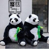 1pcs 50cm Cute panda hugging bamboo stuffed plush toys soft sleeping pillow kids toy children birthday gift doll