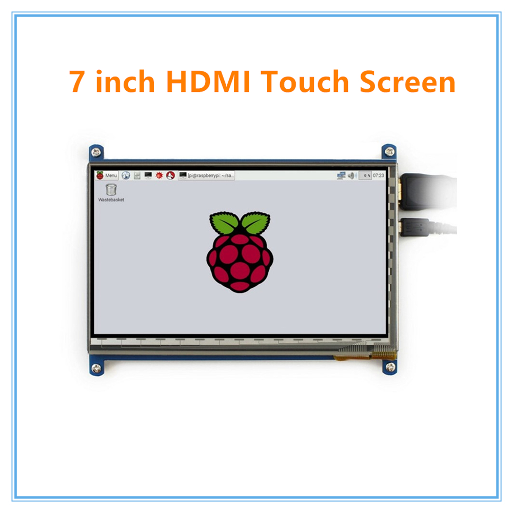 Raspberry pi 3 7 inch touch screen 1024*600 7 inch Capacitive Touch Screen LCD, HDMI interface, supports various system a gauge 7 inch lcd at070tn94 highlight navigation screen screen