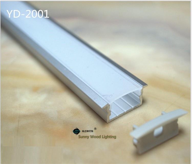 dupla fileira tira led, leitoso transparente capa para 20mm pcb
