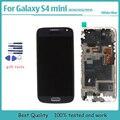 Ferramentas + display lcd para samsung galaxy s4 mini gt-i9190 i9192 i9195 lcd de toque digitador da tela com moldura preta branco azul