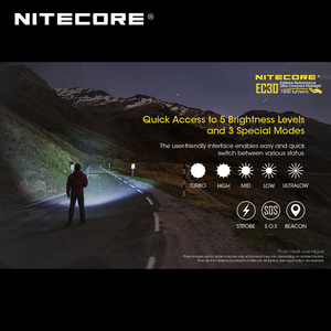 Image 3 - 1800 Lumens Nitecore EC30 CREE XHP35 HD LED Extreme Performance Ultra Compact Flashlight