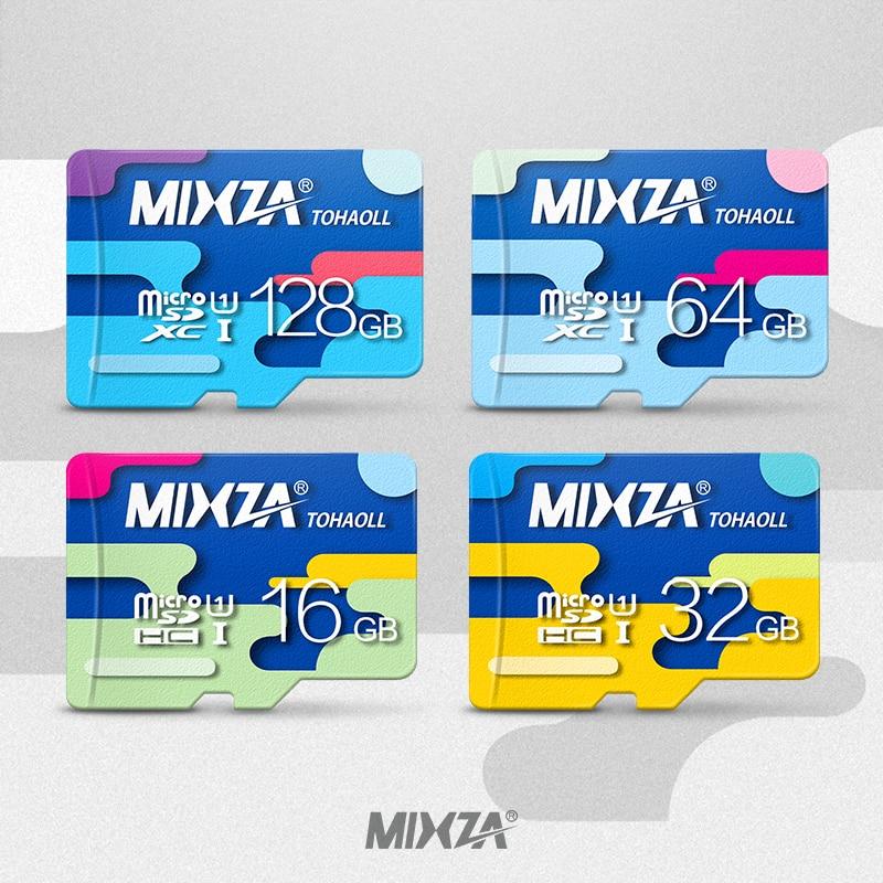 MIXZA Memory Card 128GB 64GB 32GB 16GB Micro sd card Class10 UHS-1 flash card Memory Microsd TF/SD Cards for Smartphone/Tablet mixza class10 sdhc micro sd memory card ocean series 16gb