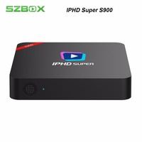 IPHD Super S900 with one year IPTV Subscription 2GB RAM Linux TV BOX with Lan support H.265 Xstream code,Stalker Media player