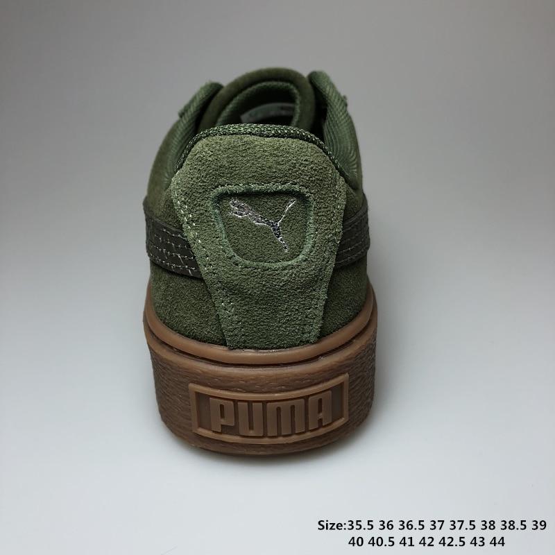 2018 PUMA Womens Suede Mono Satin Platform Rihanna classic color tone simple Badminton Shoes Size 35.5-40