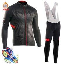 Профессиональная команда, Зимняя Теплая Флисовая велосипедная одежда, мужская футболка с длинным рукавом, костюм для езды на велосипеде, MTB, одежда, комбинезон, комплект