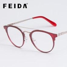 38995c5fc20455 FEIDA Clear Brilmontuur Anti Blauw Licht Bril Vrouwen Nep Bril rode  Optische Brillen Frame Transparant Oculos YX0414-1