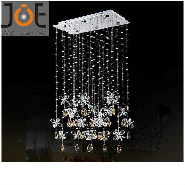 New arrived Crystal chandeliers Candle light Modern Restaurant light fixtures lamps home Art Deco lights 110V/220V JD9112-6
