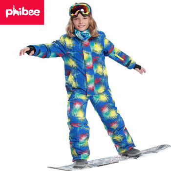 2018 Kids Ski Suit Children Windproof Waterproof Colorful Girls for Boy Snowboard Snow Jacket Pants Winter Clothes Sets