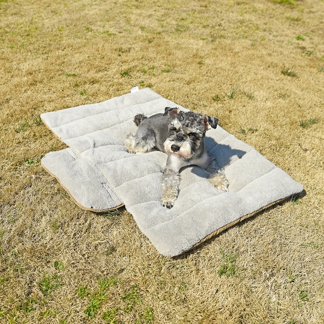 Dog's Soft Portable Bed With Storage