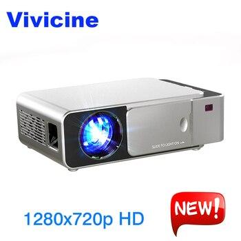 VIVICINE 1280x720 p HD LED Projetor, 7.1.2 Android HD HDMI USB PC 1080 p Home Theater Projetor Portátil Bluetooth WI-FI Beamer
