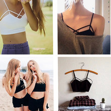 df2b4cb25d0b4 2019 New Fashion Sexy Women Strappy Padded Bra Bustier Bra Bralette Corset  Crop Tops Tank Top