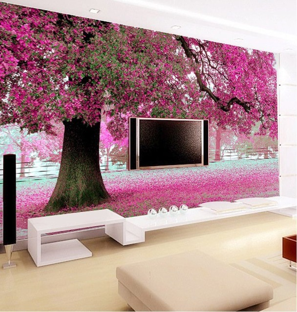 beibehang wallpaper custom wallpaper TV setting wall of sitting room ...