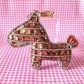 Cristal hechos a mano caballo llaveros moda llavero del encanto del bolso llaveros anillo mujeres del bolso de la joyería
