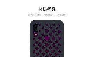 Image 4 - Original xiaomi redmi note 7 case cover note7 matte hard pc protective breathable backhole case coque redmi note 7 pro cover