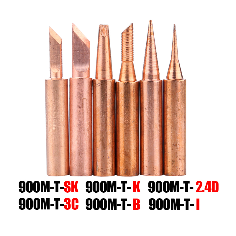 900M-T Series Soldering Iron Tip Pure Copper Lead-free For Welding Rework Station Soldering Tips Repair Tool