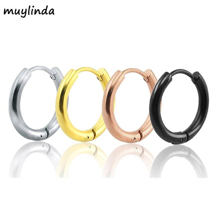 Small Hoop Earrings 4 Color Stainless Steel Hoop Earrings For Women Men Circle Earrings Creole Argollas Pendientes