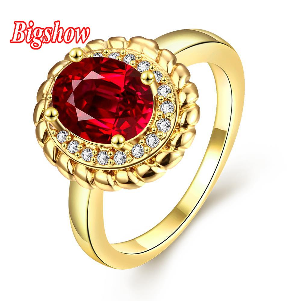 24k real platinum rose gold yellow gold plated jewelry sapphire zircon stone wedding man rings R291-A-8