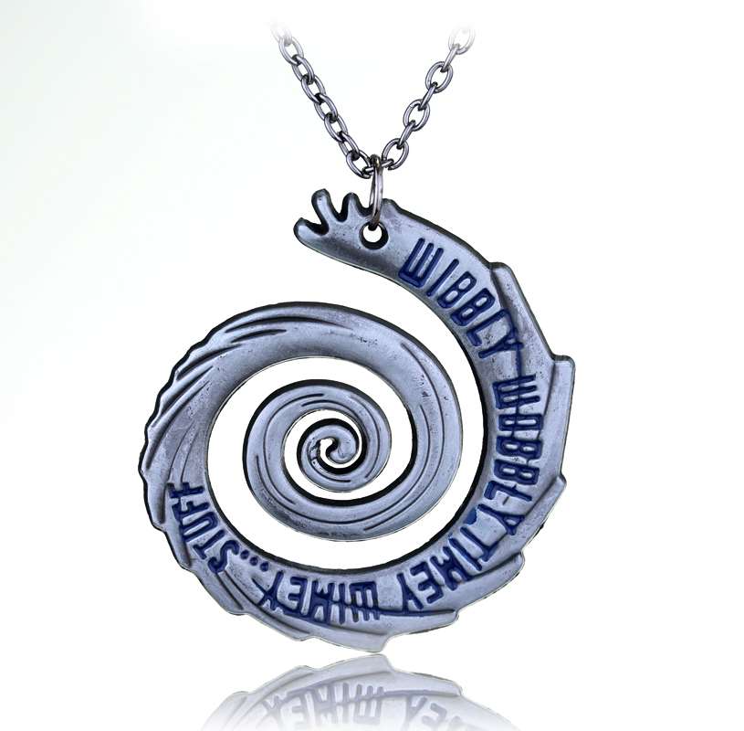 Hand Stamped Wibbly Wobbly Timey Wimey Necklaces & Pendants Doctor Who Spiral Necklace Movie Jewelry