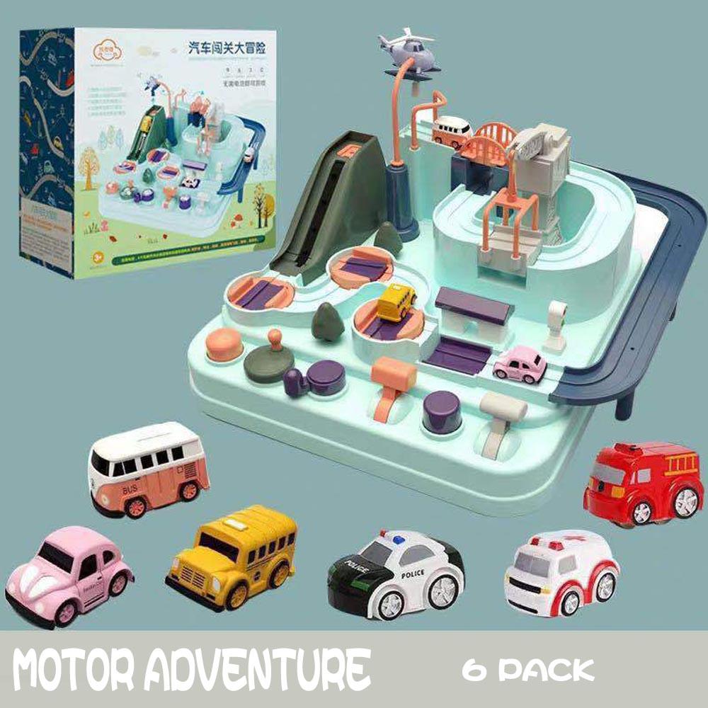 Education Railcar Toy Eco-friendly Baby Adventure Toy Car Macaron Color Table Games Boy and Girl Puzzle Toys birthday gift