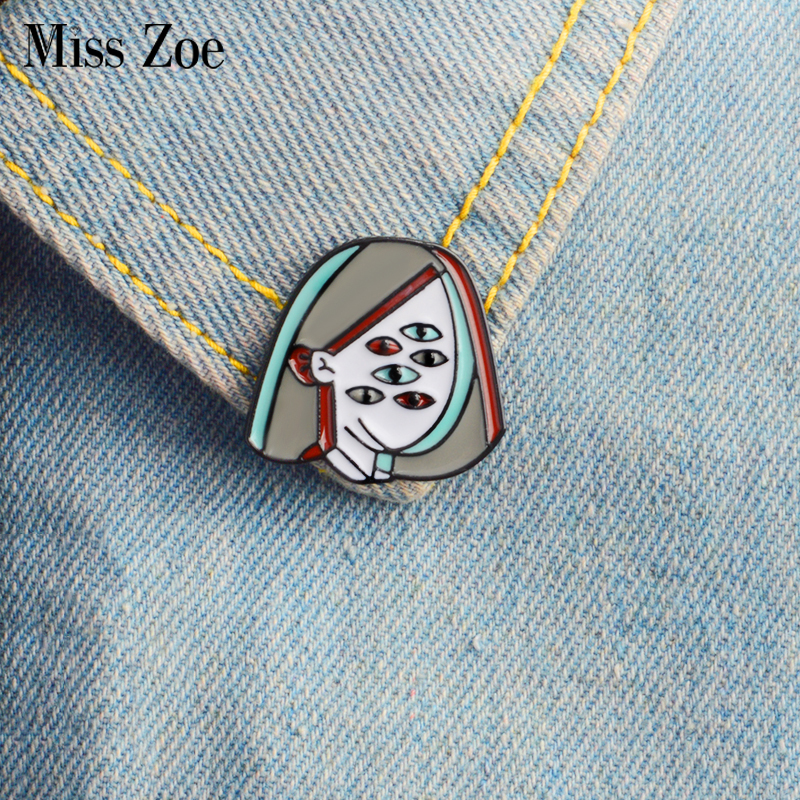 Ancient Myth Pin Arachne Enamel Brooches Lapel Pin Perspective Simple Icons Button Badge Denim Fashion Jewelry For Gift Jewelry & Accessories