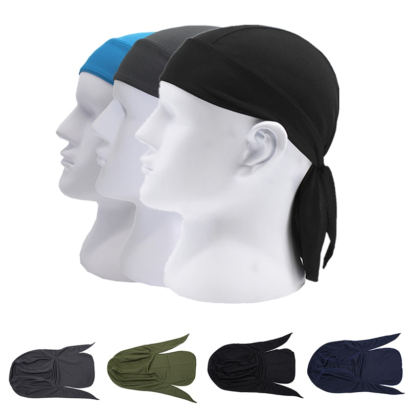 Men Summer Quick Dry Pure Cycling Cap Running Riding Hood Headband Head Scarf Bandana Headscarf Pirate Hat